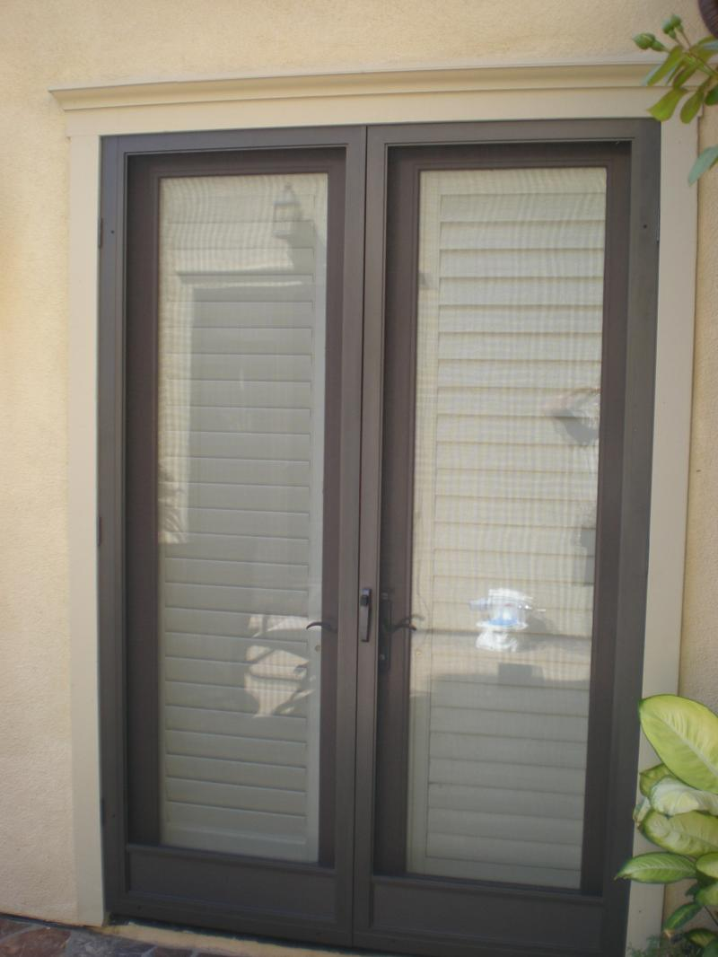 Screen doors for french doors to replace an astragal how for Exterior screen doors