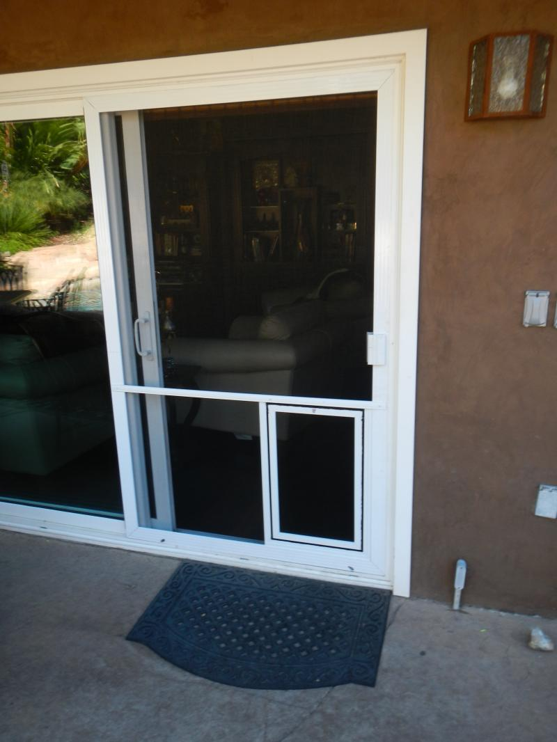 Screen Door with Pet Door